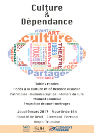 Affiche des tables rondes de la culture